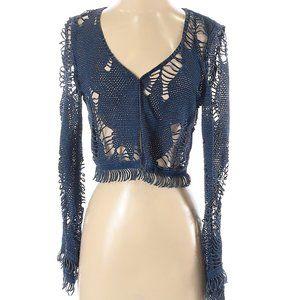 Casadei Vintage Cut-out Distressed Fringe Jacket